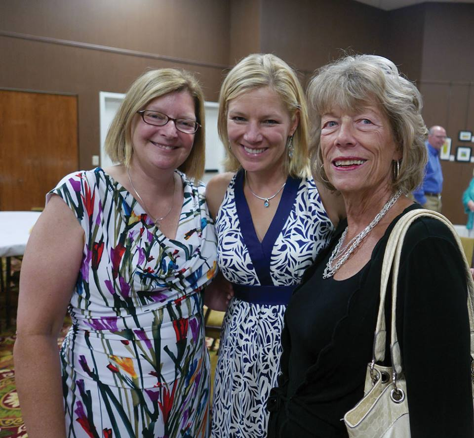 Photo of Sarah, Celia, and Bob's sister-in-law Mary Swierenga