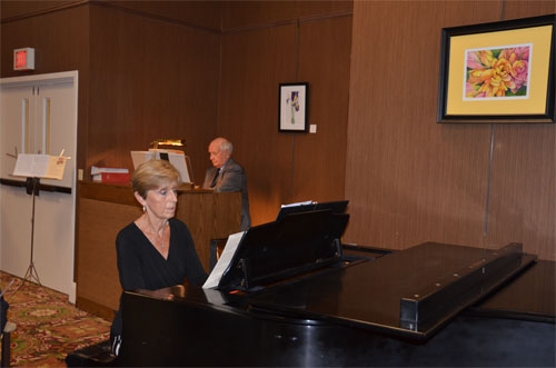 Photo of pianist and organist